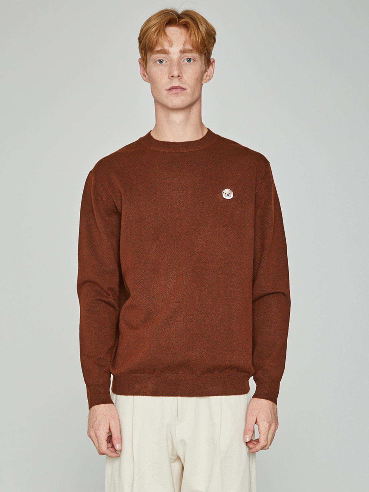 Lazyotter Crewneck Knit Brown